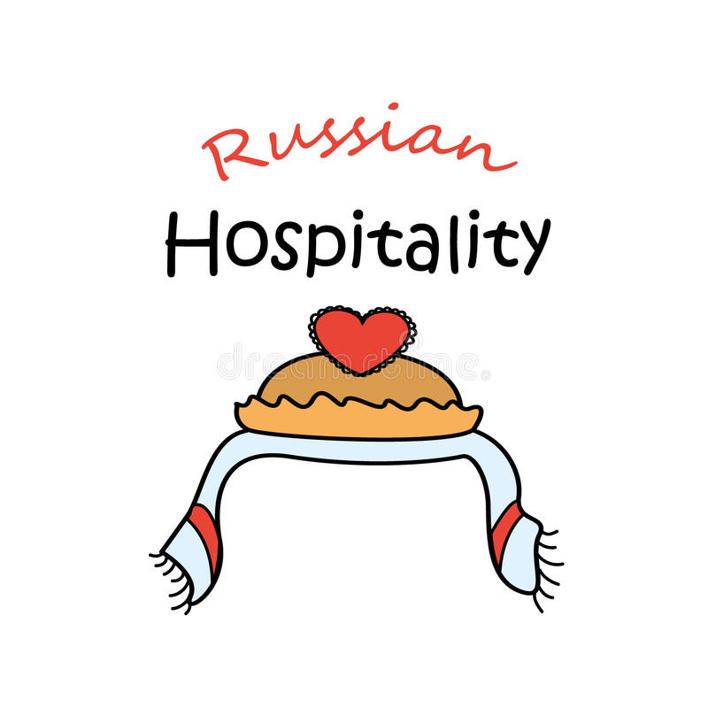 Ρωσική φιλοξενία αλατισμένη υποδοχή ψωμιού απεικόνιση αποθεμάτων