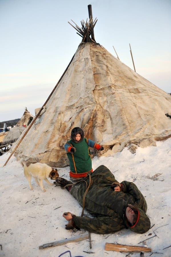 Ρωσικός αρκτικός αυτόχθων! στοκ εικόνες