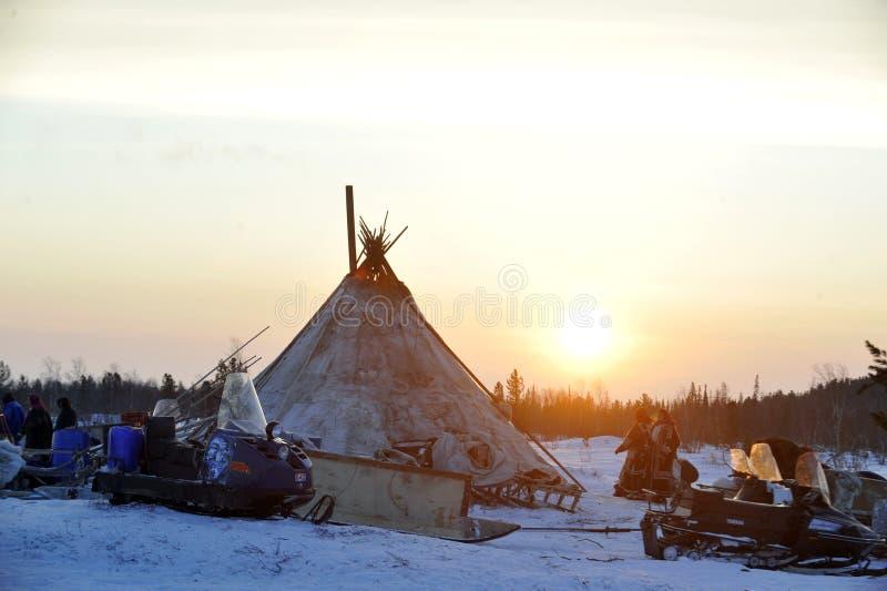 Ρωσικός αρκτικός αυτόχθων! στοκ φωτογραφίες