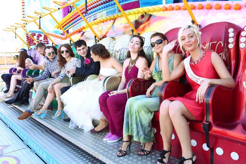 Ρωσικός γάμος στο λούνα παρκ στοκ φωτογραφία με δικαίωμα ελεύθερης χρήσης