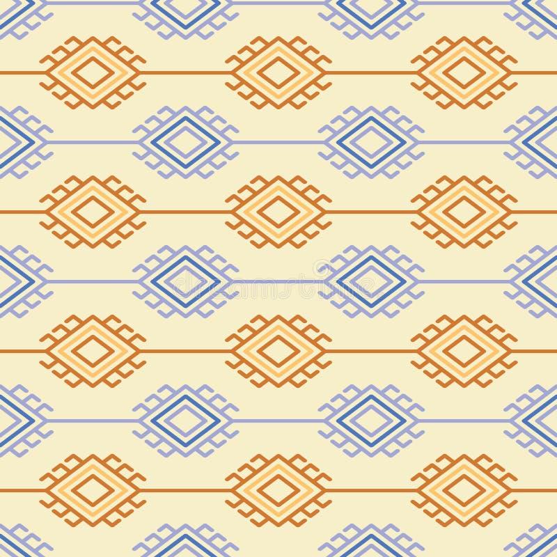 Ρωσικός, ουκρανικός και Σκανδιναβικός εθνικός πλέκει το ορισμένο σχέδιο, χρώματα κρητιδογραφιών διανυσματική απεικόνιση