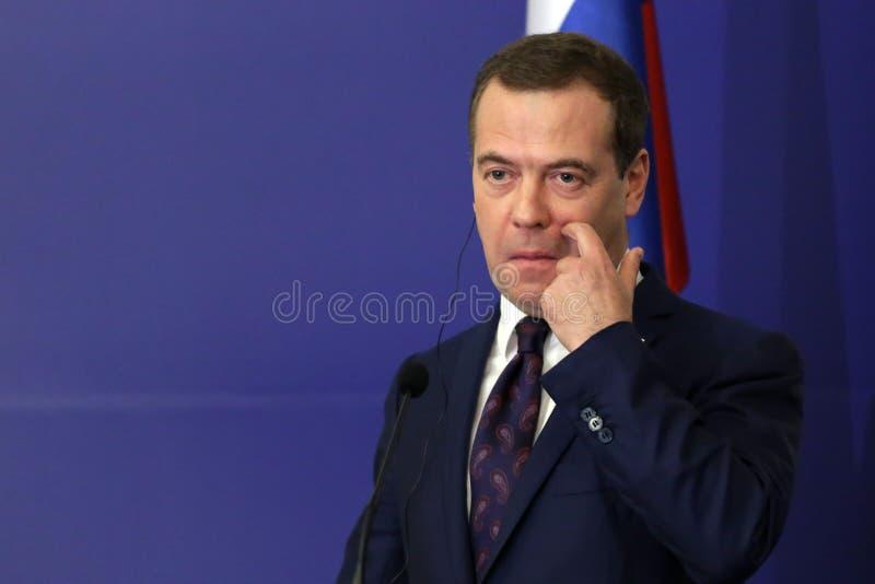 Ρωσικός πρωθυπουργός Ντμίτρι Μεντβέντεφ στοκ εικόνες