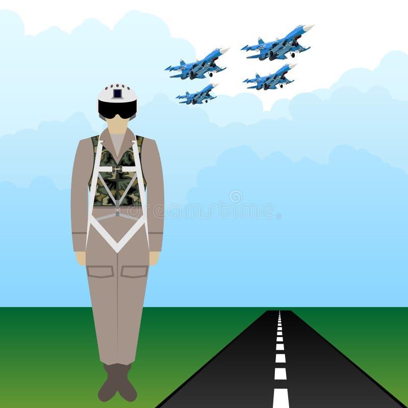 Ρωσικός στρατιωτικός πειραματικός στολών ελεύθερη απεικόνιση δικαιώματος