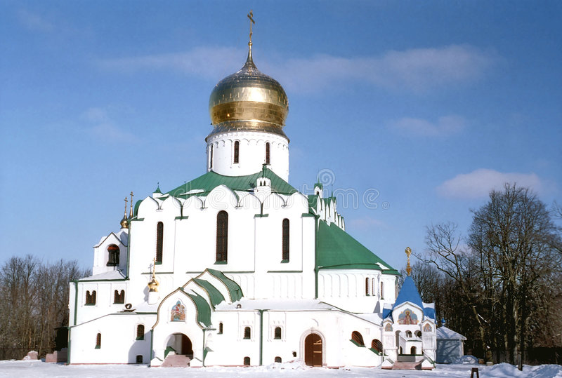 ρωσικός χειμώνας όψης καθεδρικών ναών στοκ εικόνες με δικαίωμα ελεύθερης χρήσης