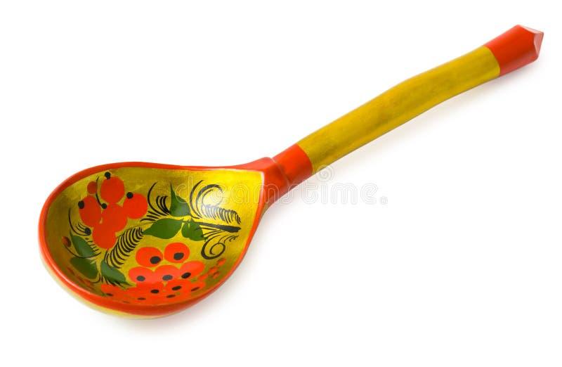 ρωσικό κουτάλι khokhloma ξύλινο στοκ φωτογραφία με δικαίωμα ελεύθερης χρήσης