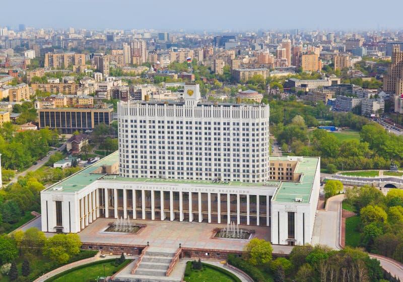 ρωσικό λευκό της Μόσχας Ρ&ome στοκ φωτογραφία