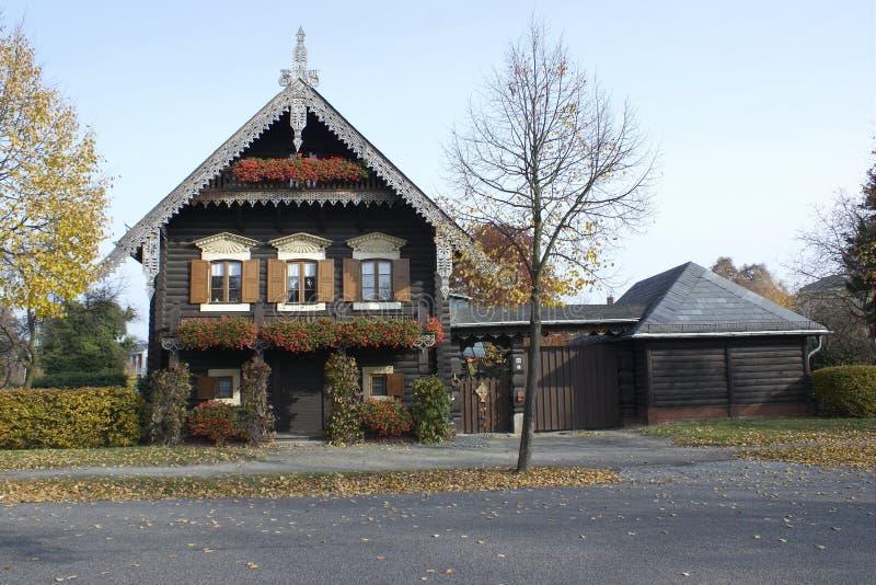 Ρωσικό ξύλινο σπίτι, Πότσνταμ, Γερμανία στοκ φωτογραφίες με δικαίωμα ελεύθερης χρήσης
