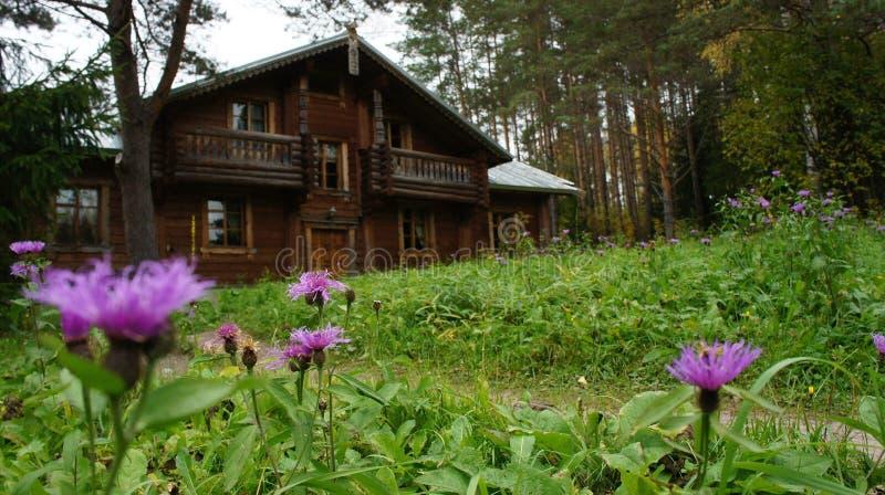 Ρωσικό σπίτι στοκ φωτογραφία με δικαίωμα ελεύθερης χρήσης