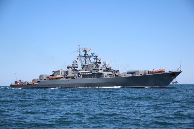 Ρωσικό στρατιωτικό σκάφος στοκ εικόνα