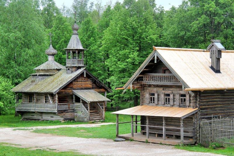 Ρωσικό χωριό στοκ εικόνες