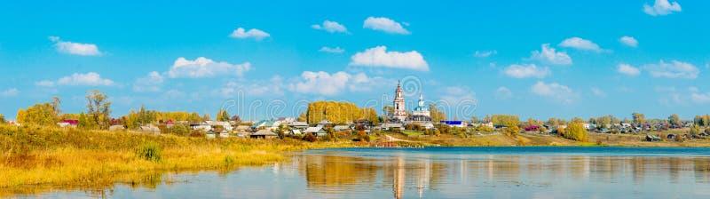 Ρωσικό χωριό στοκ φωτογραφίες με δικαίωμα ελεύθερης χρήσης