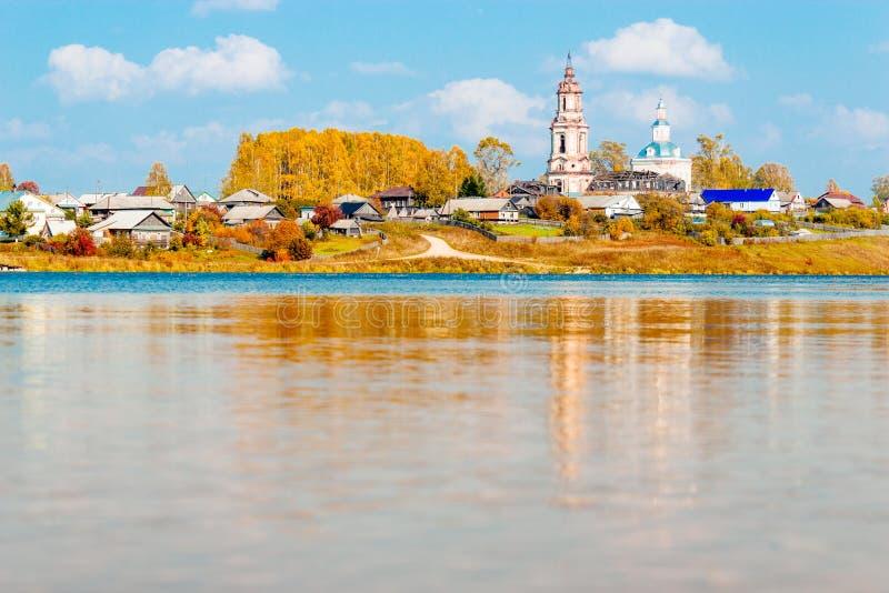 Ρωσικό χωριό στοκ εικόνα