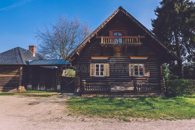 Ρωσικό χωριό Alexandrowka αποικιών στοκ φωτογραφίες