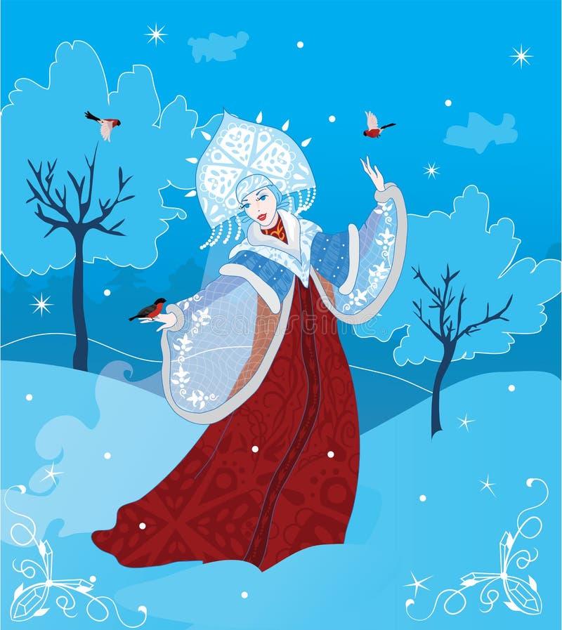 Download Ρωσικό ύφος κοριτσιών χιονιού Διανυσματική απεικόνιση - εικόνα: 26602882