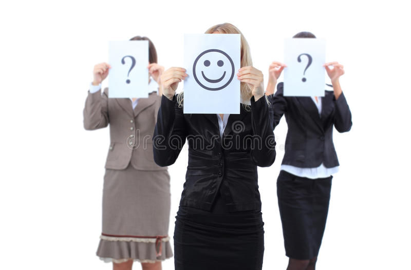 ρωτά τις όμορφες γυναίκες επιχειρησιακών οδηγιών στοκ εικόνες
