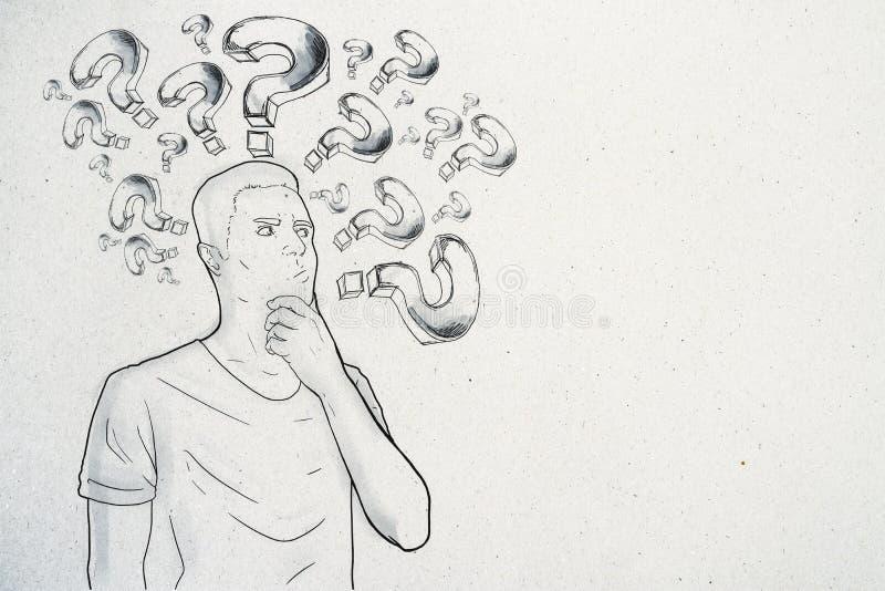 Ρωτήστε και ταραγμένη έννοια απεικόνιση αποθεμάτων