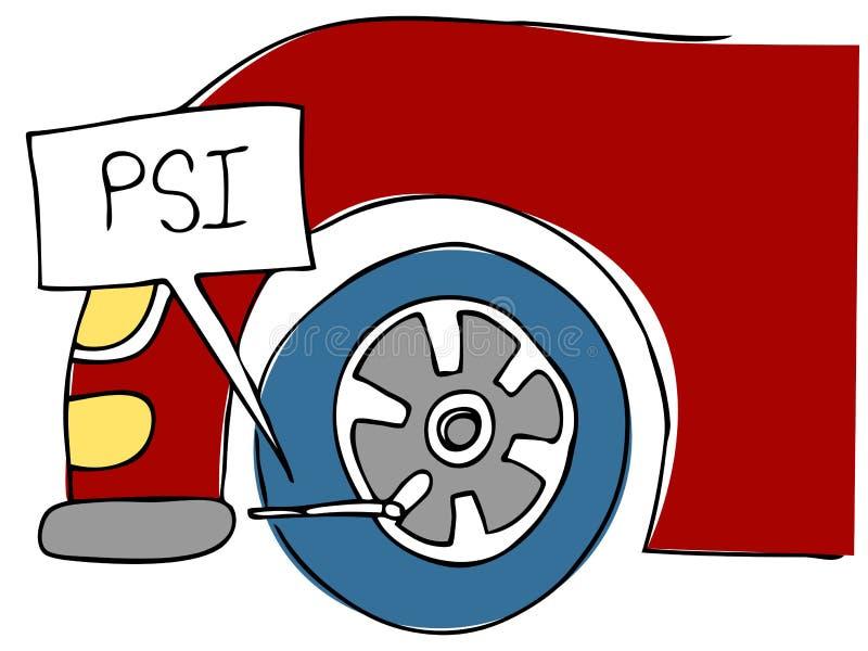 ρόδα πίεσης PSI διανυσματική απεικόνιση