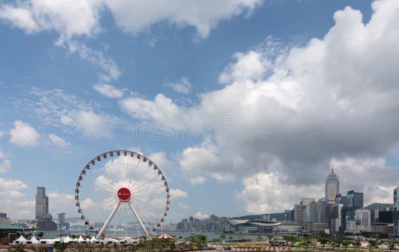 Ρόδα παρατήρησης ή ρόδα Ferris στο Χονγκ Κονγκ στοκ εικόνες