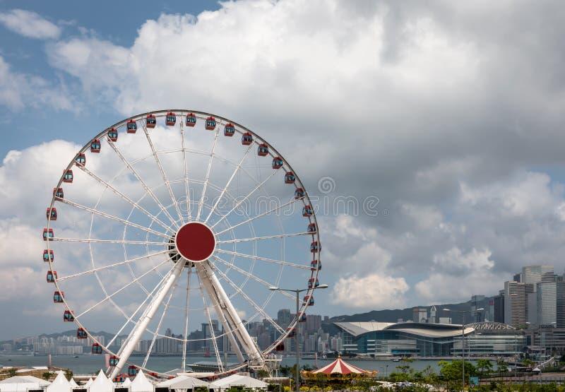 Ρόδα παρατήρησης ή ρόδα Ferris στο Χονγκ Κονγκ στοκ φωτογραφία