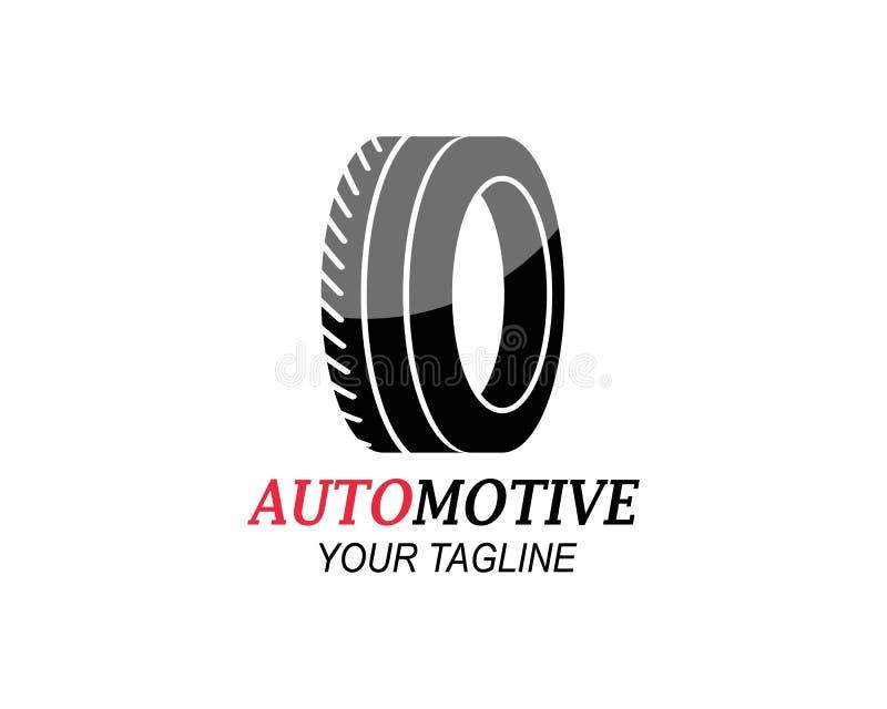 ρόδα, ρόδες του αυτοκίνητου λογότυπου εικονιδίων vectortemplate διανυσματική απεικόνιση