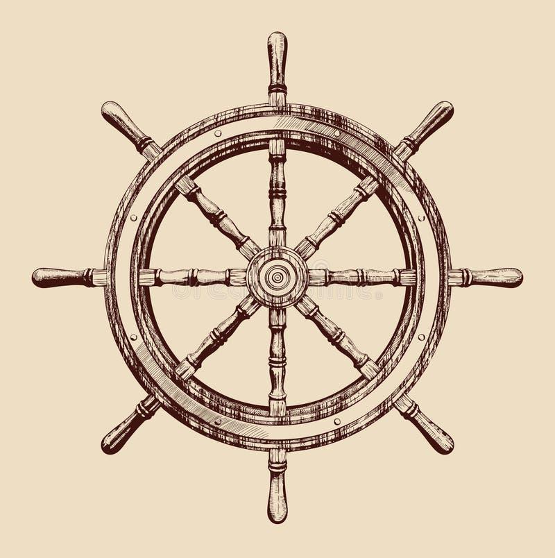 ρόδα σκαφών ελεύθερη απεικόνιση δικαιώματος