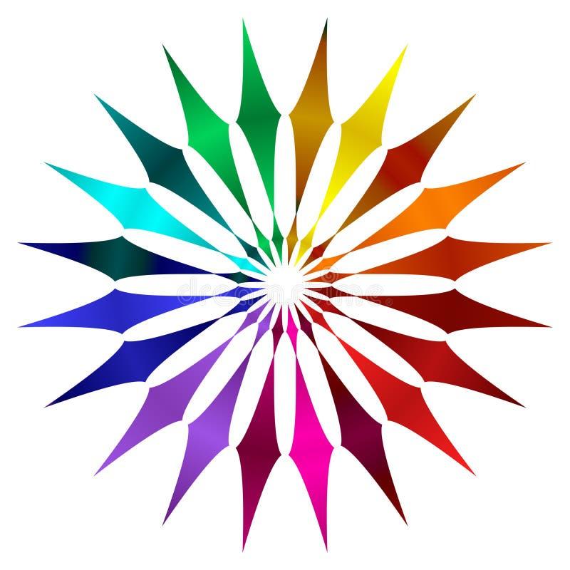 ρόδα χρώματος ελεύθερη απεικόνιση δικαιώματος