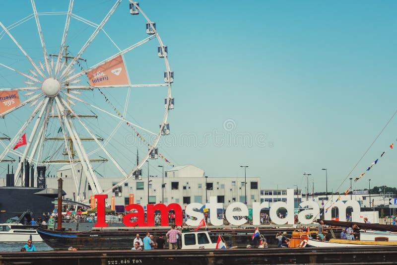 Ρόδα Ferris στο γεγονός πανιών 2015 στο Άμστερνταμ στοκ φωτογραφία με δικαίωμα ελεύθερης χρήσης