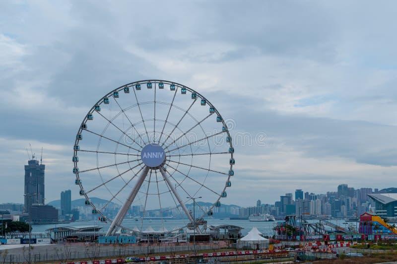 Ρόδα Ferris στο Χονγκ Κονγκ στοκ εικόνες