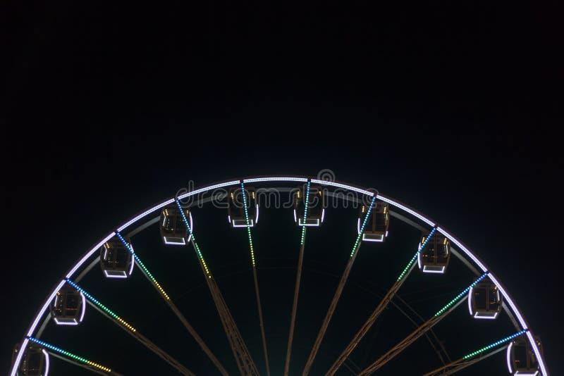 Ρόδα Ferris τη νύχτα στοκ εικόνα