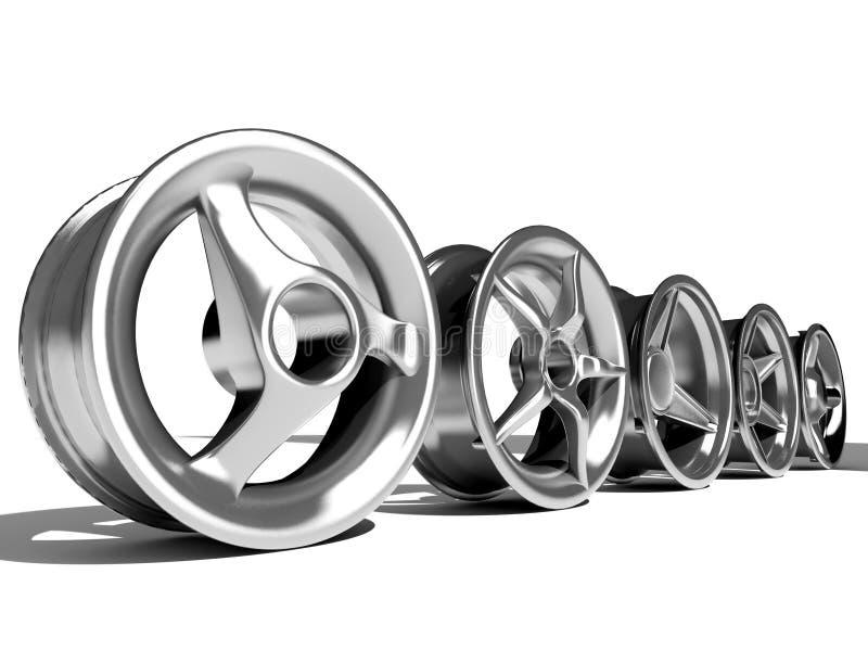 ρόδες αυτοκινήτων διανυσματική απεικόνιση