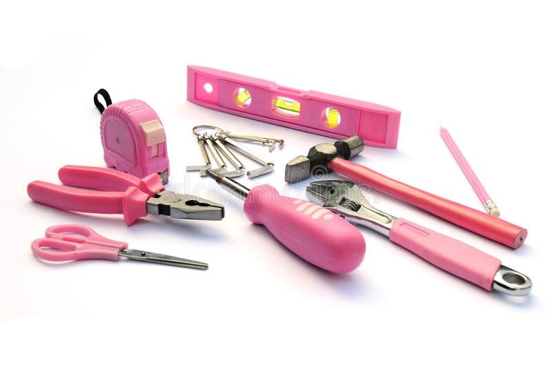 ρόδινα εργαλεία στοκ φωτογραφία