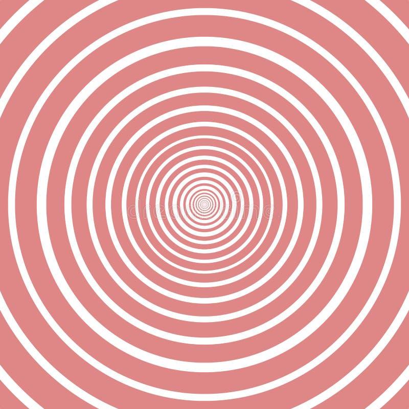 Ρόδινα και άσπρα χρώματα σχεδίων κύκλων σημάδι για το διάνυσμα απεικόνισης απεικόνιση αποθεμάτων