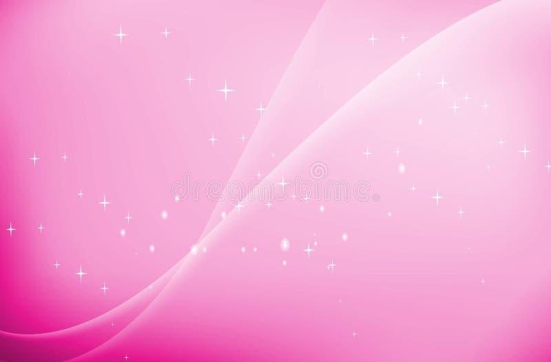 ρόδινα κύματα αστεριών ανα&sig ελεύθερη απεικόνιση δικαιώματος