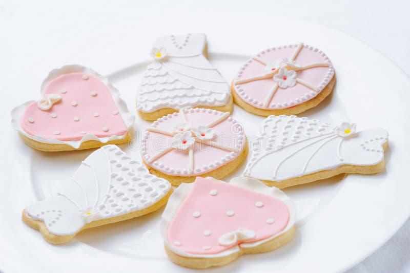 Ρόδινα μπισκότα στοκ εικόνες με δικαίωμα ελεύθερης χρήσης