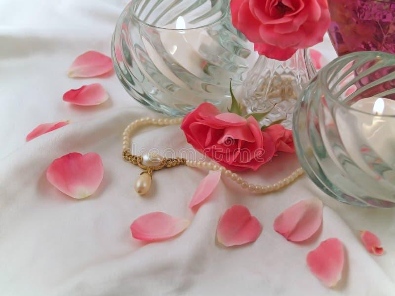 ρόδινα τριαντάφυλλα μαργ&alph στοκ εικόνα