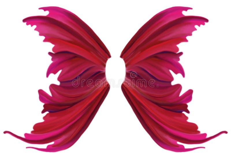 Ρόδινα φτερά ανοίξεων διανυσματική απεικόνιση