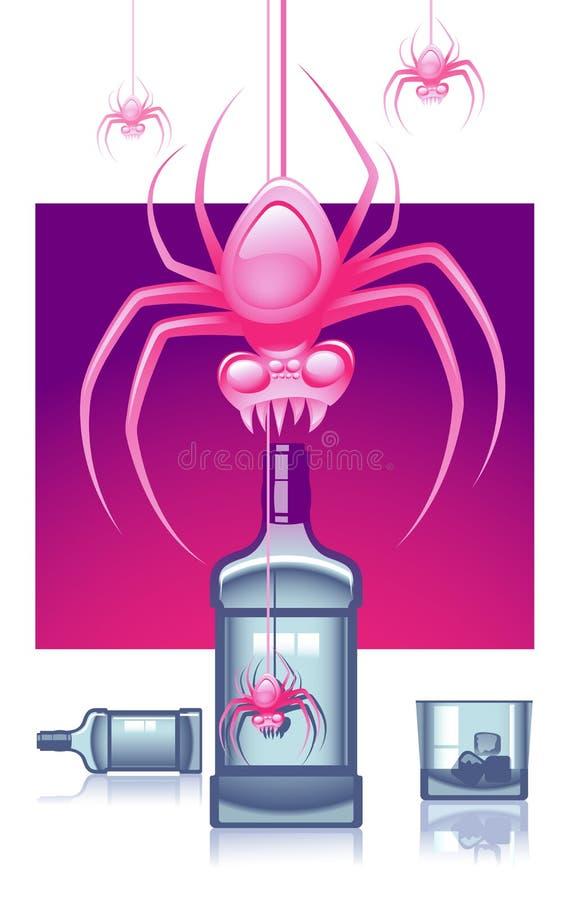 ρόδινες αράχνες ελεύθερη απεικόνιση δικαιώματος