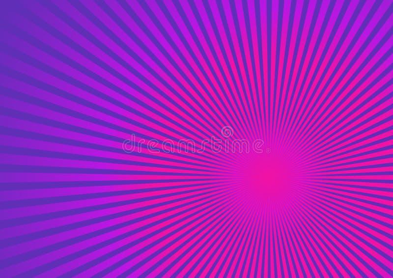 ρόδινες πορφυρές ακτίνες ανασκόπησης διανυσματική απεικόνιση