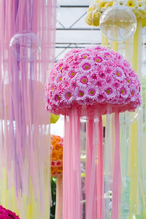 Ρόδινη ανθοδέσμη λουλουδιών στοκ φωτογραφία