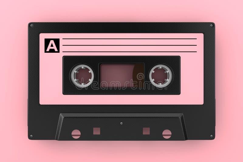 Ρόδινη παλαιά εκλεκτής ποιότητας ακουστική ταινία κασετών τρισδιάστατη απόδοση ελεύθερη απεικόνιση δικαιώματος