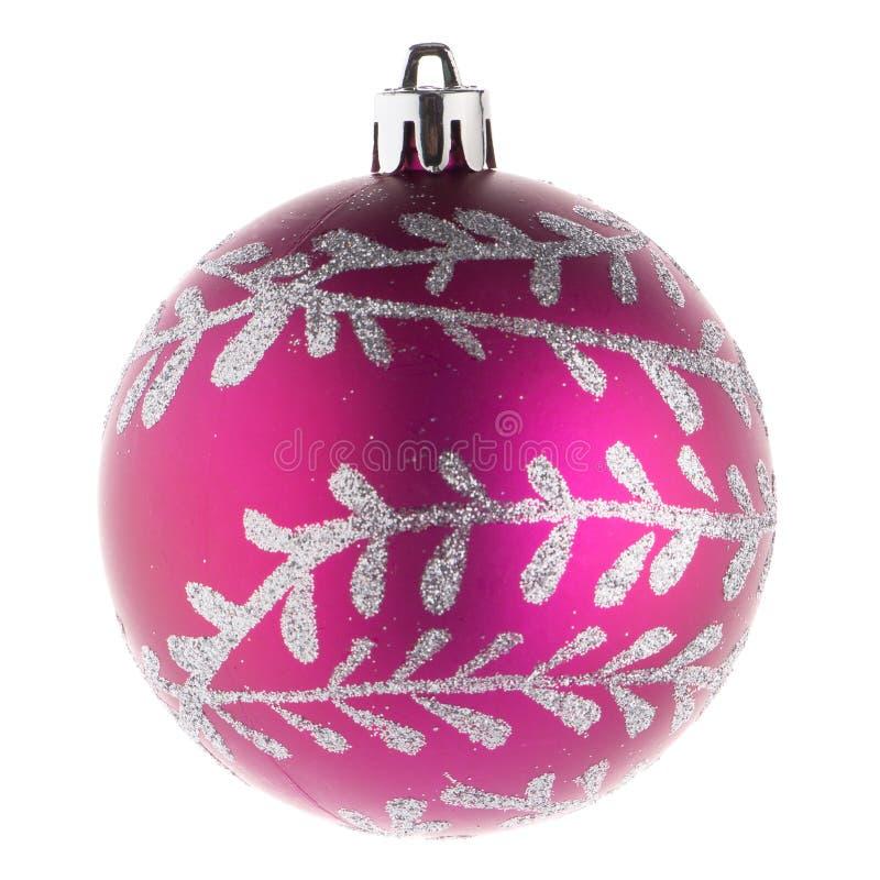 Ρόδινη σφαίρα Χριστουγέννων στοκ φωτογραφίες