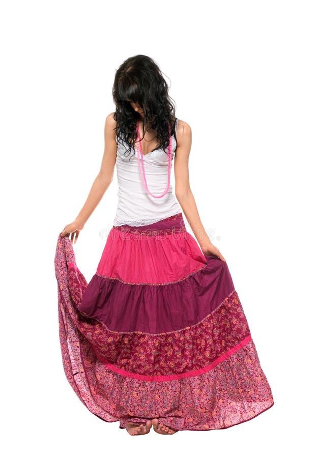ρόδινη φούστα κοριτσιών στοκ φωτογραφίες