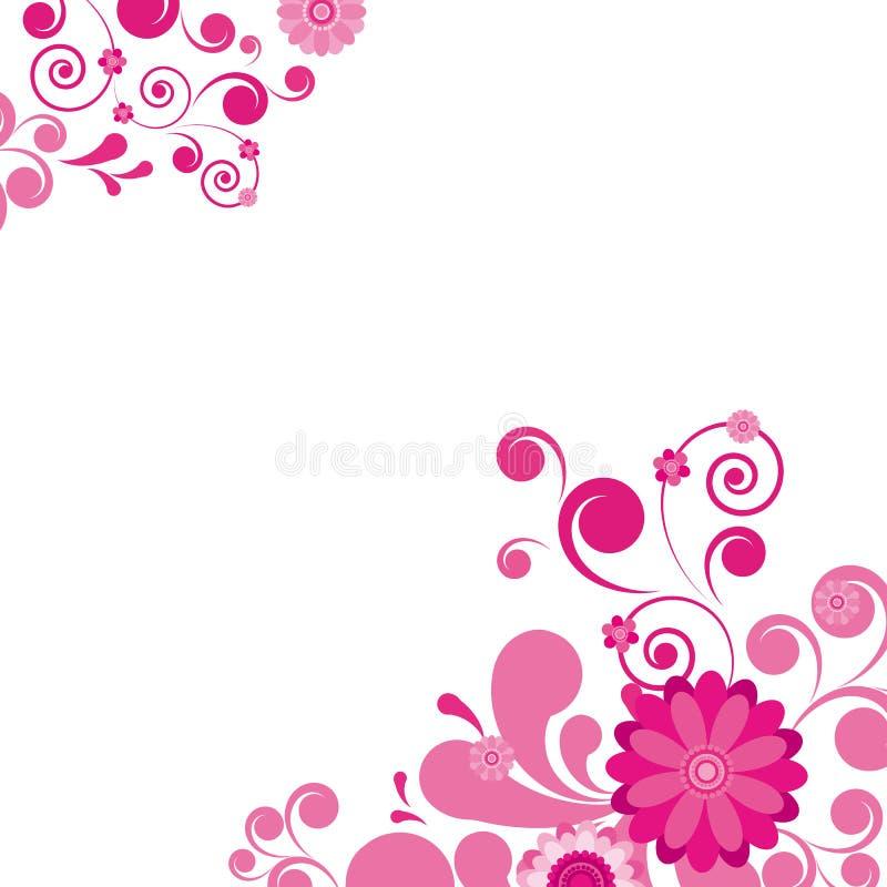 Ρόδινη floral ανασκόπηση. διανυσματική απεικόνιση
