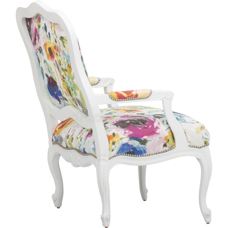 _ρόδινος έμφαση καρέκλα κοκκινίζω καρέκλα πολυ περιστασιακός καυτός, Lillian Αύγουστος Αλβέρτος Φουντωτός Floral Επικαλύπτω Καρέκ στοκ εικόνες με δικαίωμα ελεύθερης χρήσης