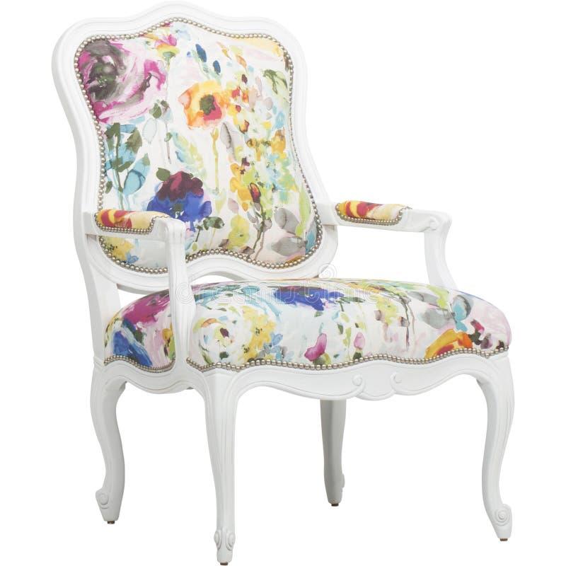 _ρόδινος έμφαση καρέκλα κοκκινίζω καρέκλα πολυ περιστασιακός καυτός, Lillian Αύγουστος Αλβέρτος Φουντωτός Floral Επικαλύπτω Καρέκ στοκ φωτογραφία