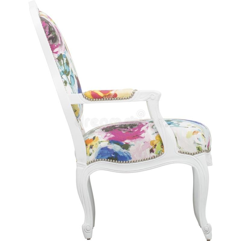 _ρόδινος έμφαση καρέκλα κοκκινίζω καρέκλα πολυ περιστασιακός καυτός, Lillian Αύγουστος Αλβέρτος Φουντωτός Floral Επικαλύπτω Καρέκ στοκ εικόνα με δικαίωμα ελεύθερης χρήσης