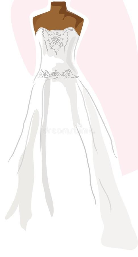 ρόδινος γάμος φορεμάτων διανυσματική απεικόνιση