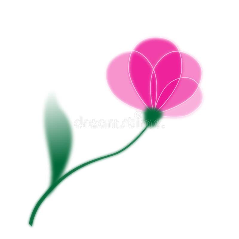 ρόδινος ενιαίος λουλο ελεύθερη απεικόνιση δικαιώματος