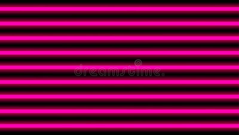 Ρόδινος κομψός οριζόντιος ελαφριών ακτίνων για το υπόβαθρο, φως disco λάμπει οριζόντιος γεωμετρικός, κάθετο σχέδιο γραμμών ακτίνω διανυσματική απεικόνιση