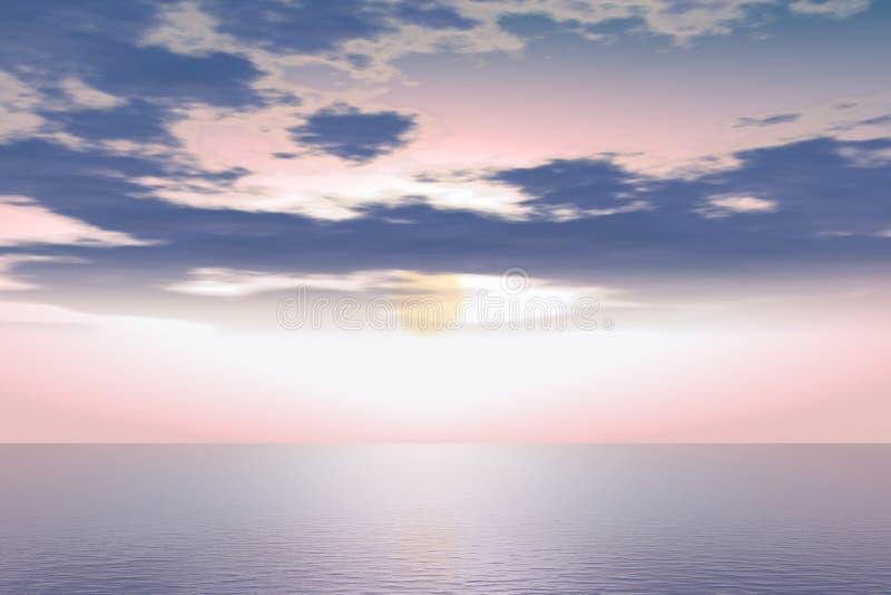 ρόδινος ουρανός ελεύθερη απεικόνιση δικαιώματος